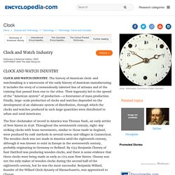 clock Facts, information, pictures