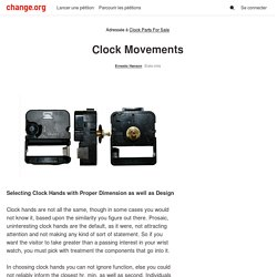 Clock Parts For Sale: Clock Movements