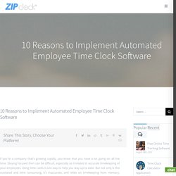 Time Clock Software, Employee Time Clock, Online Time Clock Software