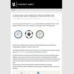 Clocklink une horloge pour votre site