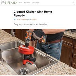 Clogged Kitchen Sink Home Remedy