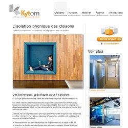 Cloison phonique pour isolation entre bureaux