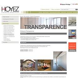 Cloisons transparence, cloison vitrée