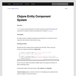 Clojure Entity Component System