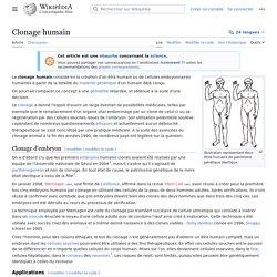 Clonage humain