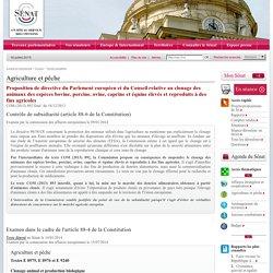 SENAT 15/07/14 Proposition de directive du Parlement européen et du Conseil relative au clonage des animaux des espèces bovine, porcine, ovine, caprine et équine élevés et reproduits à des fins agricoles