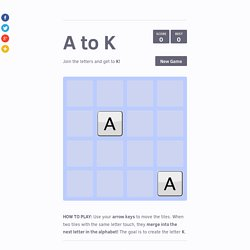 A to K - 2048 clone by Creative Spark Studios