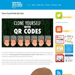 Clone Yourself with QR Codes