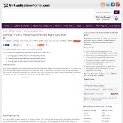Cloning Hyper-V Virtual Machines the Right Way (Part 2)