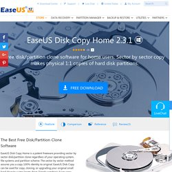 Free Disk Copy/Cloning Software - EaseUS Disk Copy Home Edition