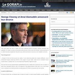 George Clooney et Amal Alamuddin annoncent leur divorce