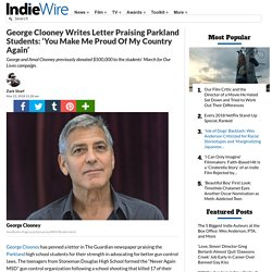 George Clooney Writes Letter to Parkland Students