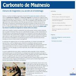 Cloruro de magnesio y carbonato de magnesio