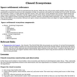 Closed Ecosystems