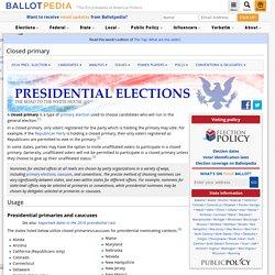 Closed primary - Ballotpedia