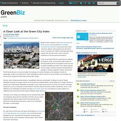 A Closer Look at the Green City Index