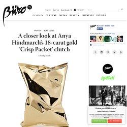 A closer look at Anya Hindmarch's 18-carat gold 'Crisp Packet' clutch