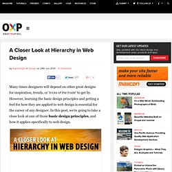 A Closer Look at Hierarchy in Web Design