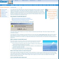 CloserLook Search: Invisible Web (deep web) Search Engine