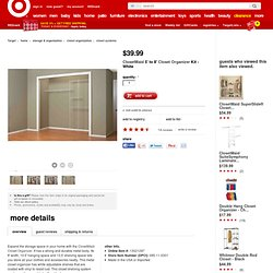 ClosetMaid Closet Organizer Kit - White (5' to 8')