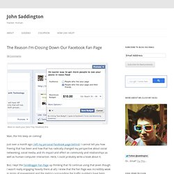 The Reason I'm Closing Down Our Facebook Fan Page - TentBlogger