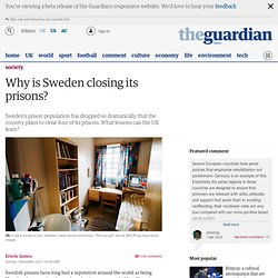 Why is Sweden closing its prisons?