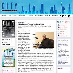 The Closing of Diane Ravitch's Mind by Sol Stern, City Journal Autumn 2013