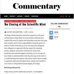 The Closing of the Scientific Mind