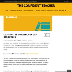 Closing the Vocabulary Gap Resources