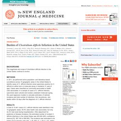 NEJM - 2015 - Burden of Clostridium difficile Infection in the United States