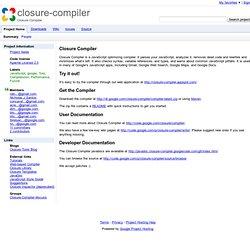 closure-compiler - Closure Compiler