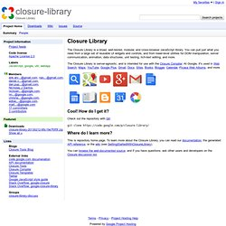 closure-library - Closure Library