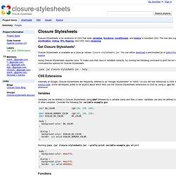 closure-stylesheets - Closure Stylesheets