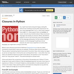 Closures In Python