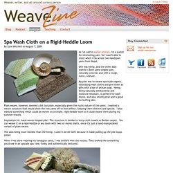 Spa Wash Cloth on a Rigid-Heddle Loom
