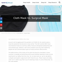 Cloth Mask Vs. Surgical Mask - Terry Cralle