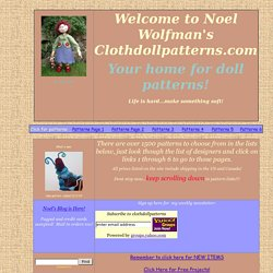 ClothDollPatterns.com Main Pattern Page