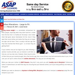 Clothes Alterations – Large to Fit