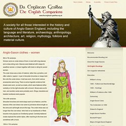 Anglo-Saxon clothes - women