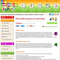 Clothes Games & Activities for ESL Kids