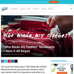 """""""Who Made My Clothes"""" Movement: History & Importance"""