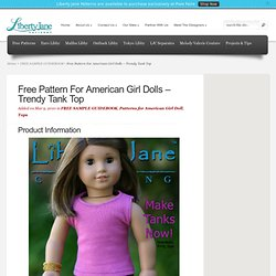 Liberty Jane Doll Clothes Patterns For American Girl Dolls
