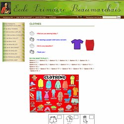 CLOTHES - ECOLE PRIMAIRE BEAUMARCHAIS