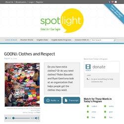 GOONJ: Clothes and Respect
