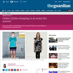 Online clothes-shopping: is an avatar the answer?