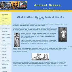 Clothes worn in Ancient Greece for Kids