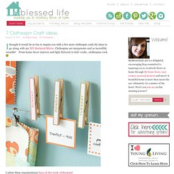 7 Clothespin Craft Ideas