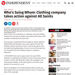 Who's Suing Whom: Clothing company takes action against All Saints