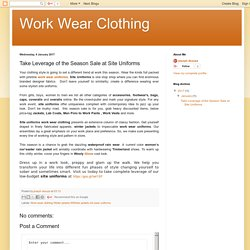 Work wear clothing