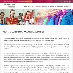 Kids Clothing Manufacturer and Exporter Online